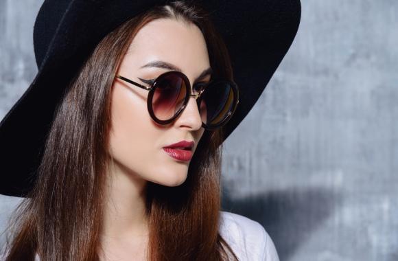 Woman wearing fashionable glasses